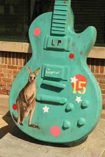 Kangaroo guitar body