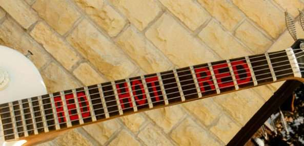 Red Hot Red guitar neck