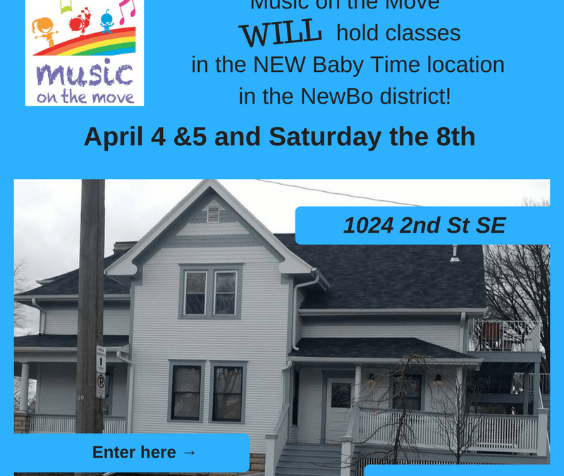 New Address for Music on the Move Family Classes