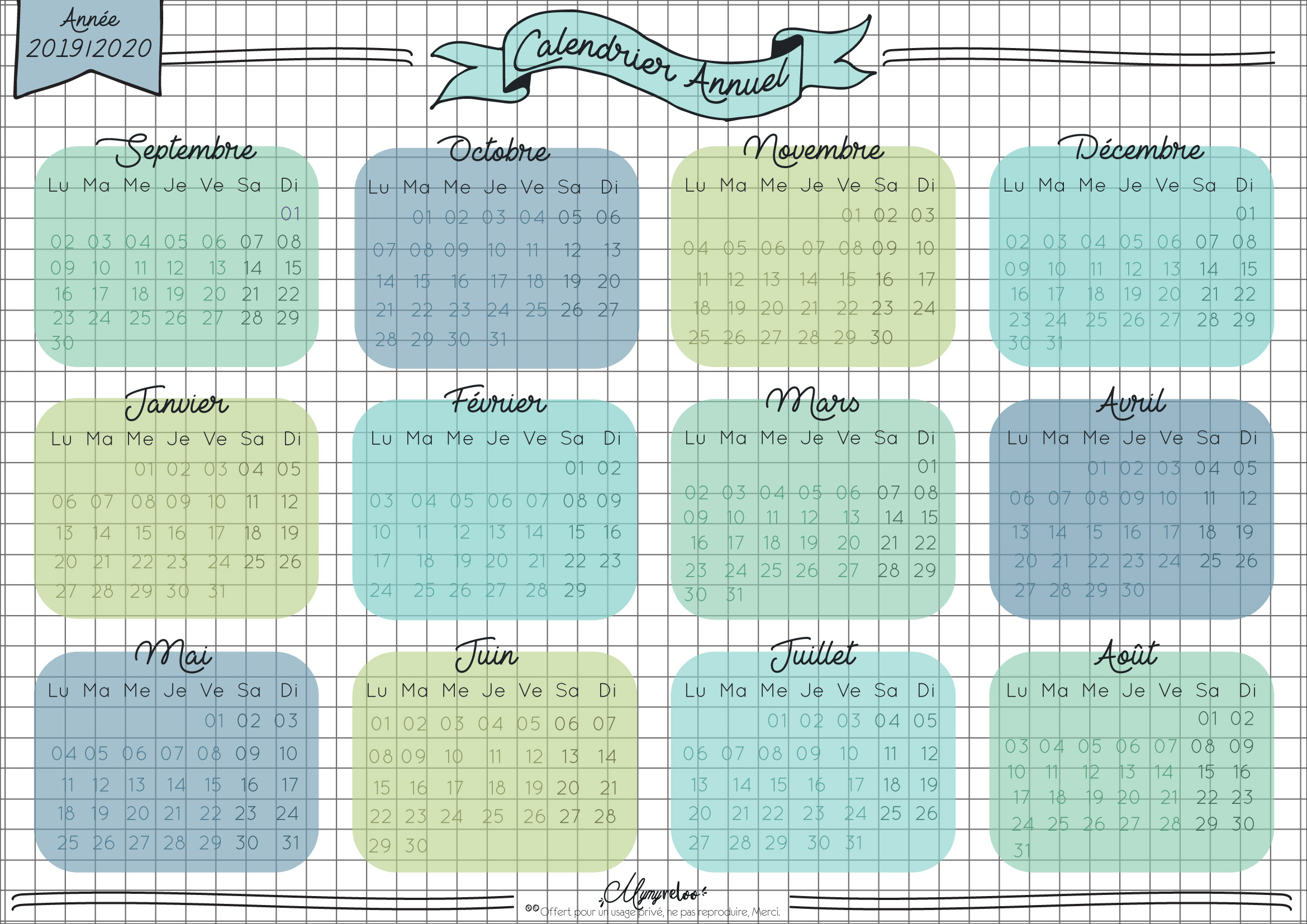 Calendrier Pro A 2020 2019.Goodies Une Rentree 2019 2020 Bien Organisee Calendrier