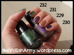 Debby limited edition Chameleon duochromes 229 230 231 232 - autumn-winter 2012/1013