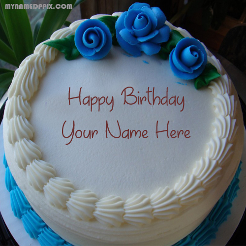 Love Roses Birthday Cake With Name Image My Name Pix Cards