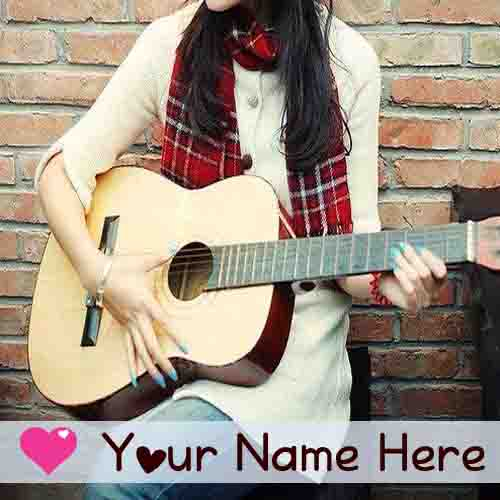 Cool And Stylish Wallpapers For Girls With Attitude Write Name Stylish Guitar Girl Profile Image Set Whatsapp