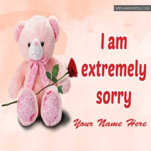 Cute Romantic Wallpapers For Whatsapp Write Name On I Am Sorry Greeting Card Image My Name Pix
