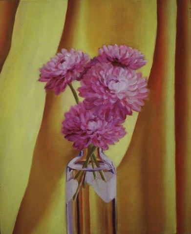 "Mums, 2005, oil on panel 20"" x 24"""