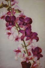 """Orchids, 2006, oil on panel 16"""" x 24"""""""