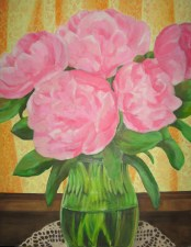 """Peonies, 2007, oil on panel 28"""" x 36"""""""