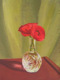 """Red Poppies, 2008, acrylic on panel 9"""" x 12"""""""