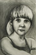 """Poppy River, 2010, charcoal on paper, 24"""" x 38"""""""
