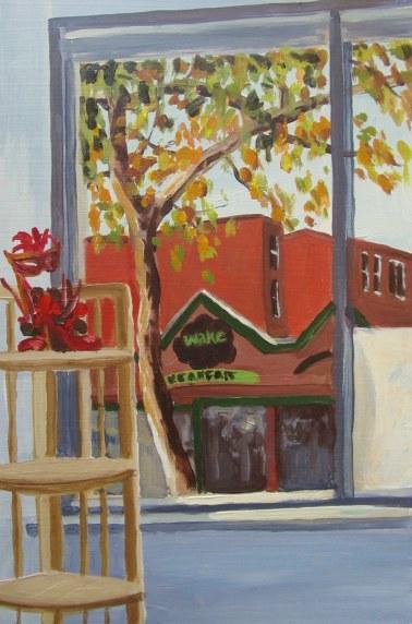 """Wake"", Kensington Studio, Oct. 2, 2011 acrylic on masonite 12"" x 18"""