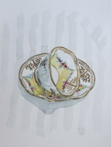 Yellow Tea-cup, Jan. 8, 2012, watercolour on paper