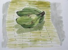 Vietnamese bananas, Apr. 22, 2012 watercolour on paper