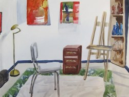 Studio Clean-up, August 28, 2012 watercolour on paper 12 x 16