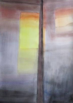 Large Reflection Watercolour, Feb. 2013, watercolour on paper 30 x 40