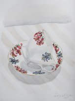 Marie's tea cup #1, Nov. 2012, watercolour on paper 9 x 12