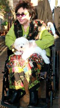 Elizabeth Taylor and her dog no 3