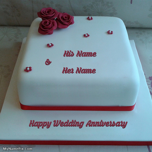 Write Name On Birthday Cake Anniversary Cakes Profile Pix