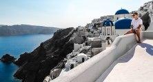 Santorini Cliff Fall, Greece