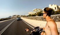 Moto on Santorini