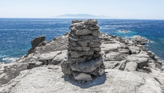 A View of Naxos from Mykonos, Greece