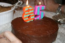 Devil's Food Cake for Bubbie's 85th birthday