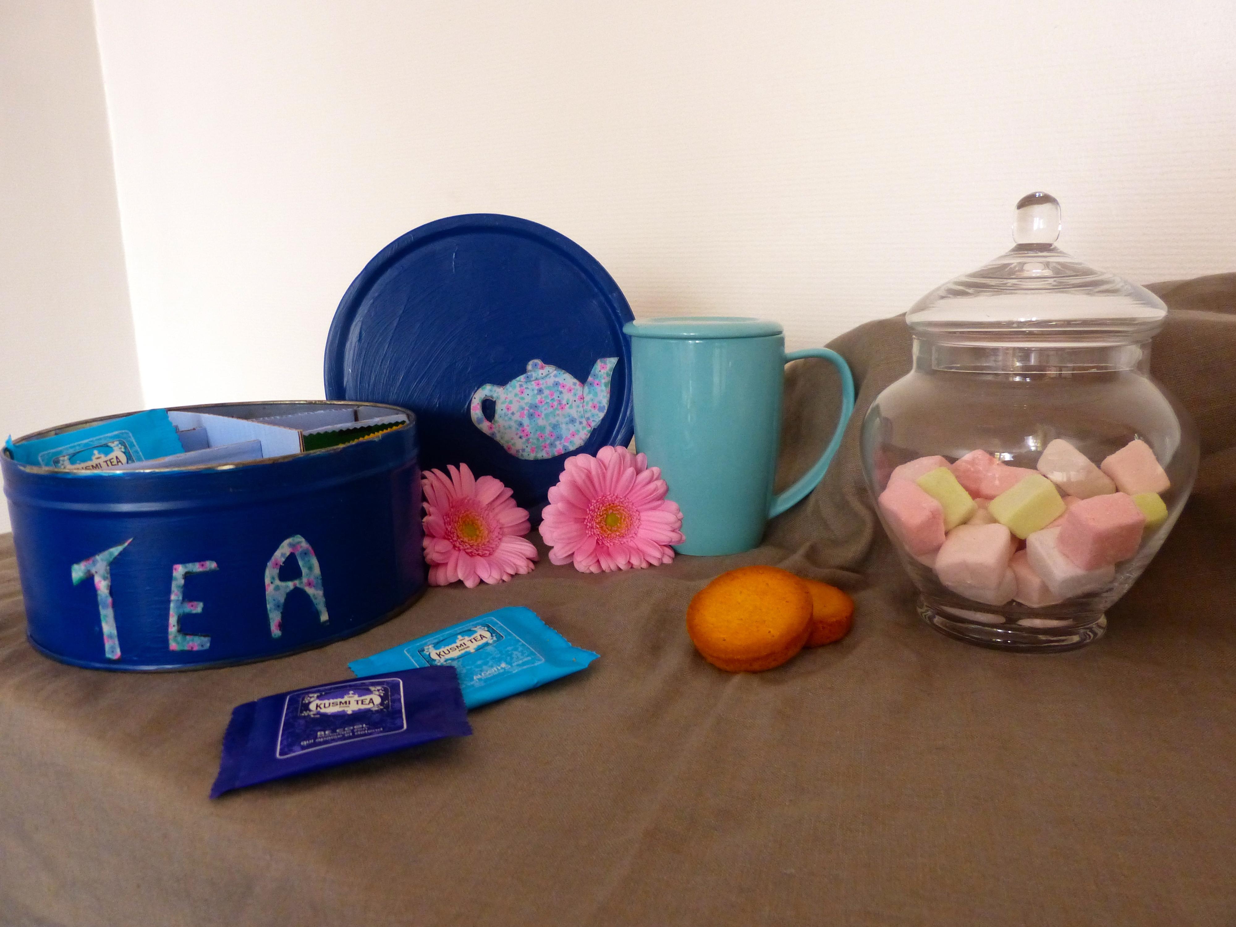 Une jolie boîte à thé  – DIY