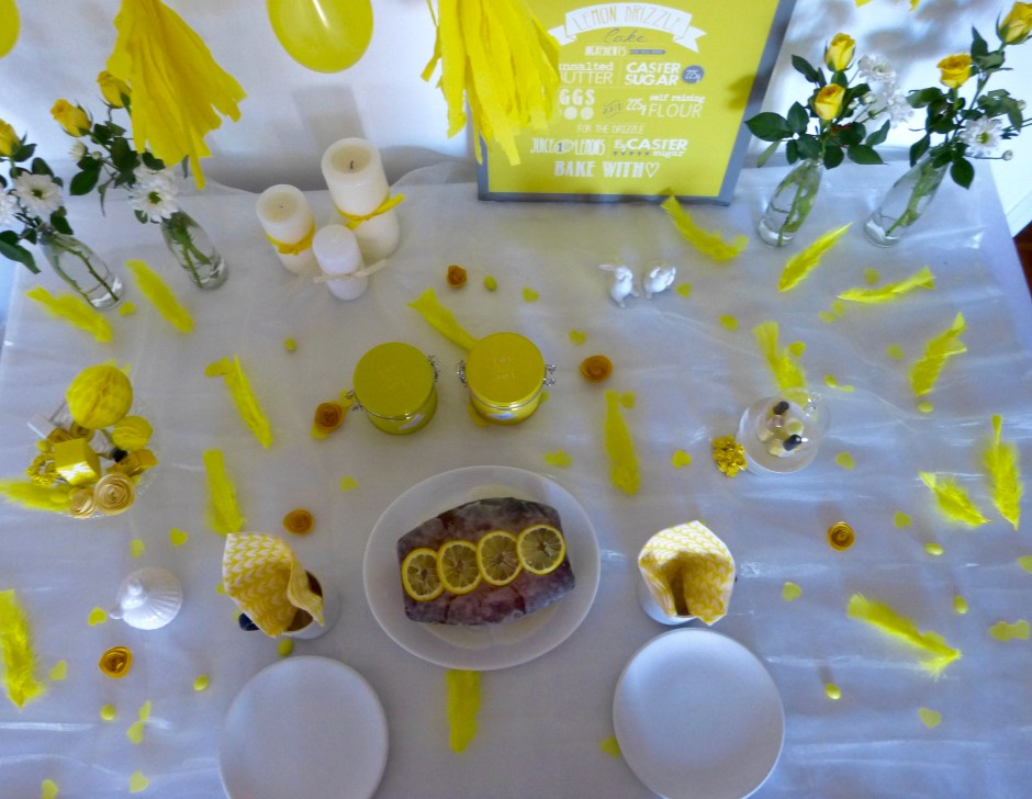 yellow sweet table