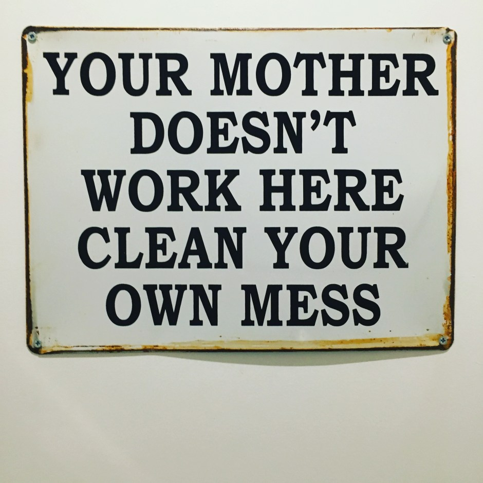 Your mother doesn't work here