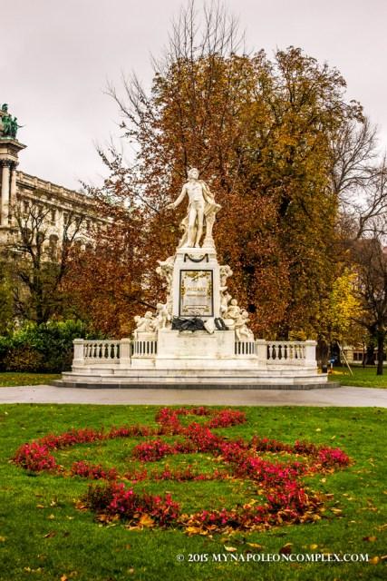 Mozart Statue in Burggarten, Vienna