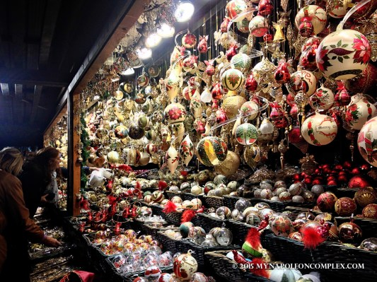 Picture of Christmas decorations stand in Rathaus Christmas Market, Vienna