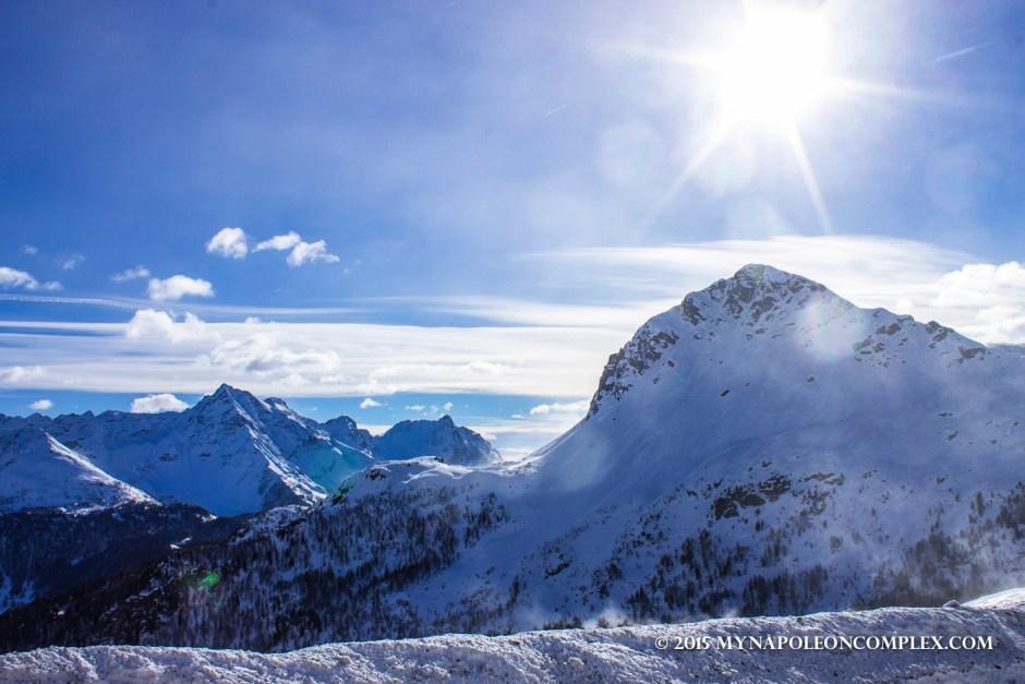 Picture of landscape along Bernina Pass, Switzerland