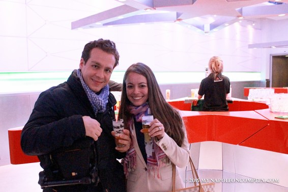 Picture inside the Heineken Experience in Amsterdam.