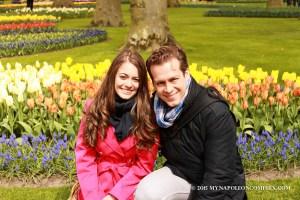 Picture in Keukenhof Garden, the Netherlands