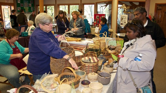 Crossroad Weavers Guild showing off their trade