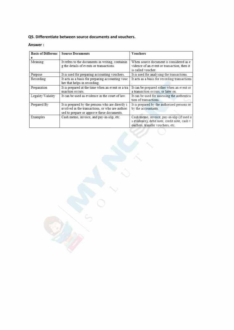 NCERT Solutions Class 11 Accountancy Chapter 3 Recording