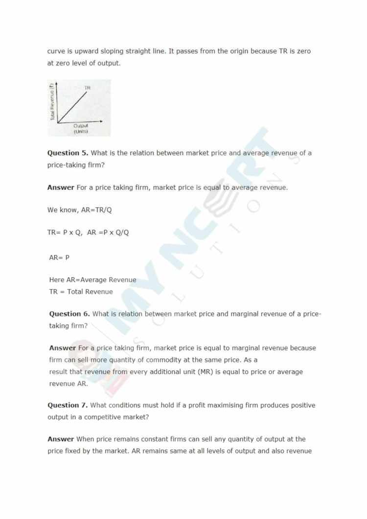 ncert solutions class 12 micro economics chapter 4 the theory of the firm under perfect competition 2