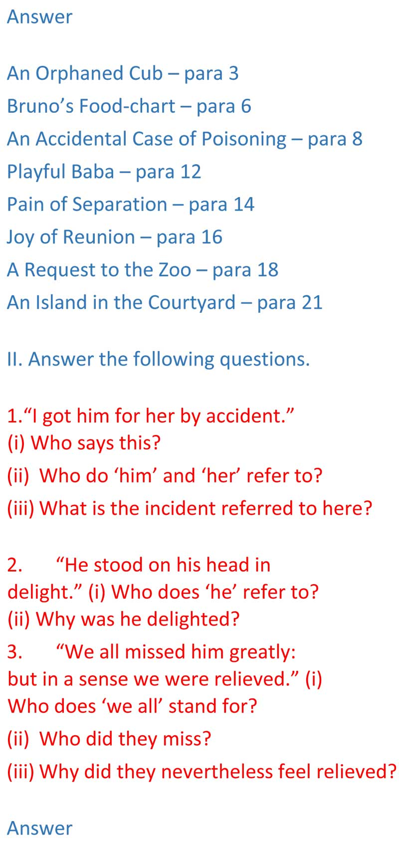 ncert solutions for class 9 english chapter 16 beehive the bond of love 2