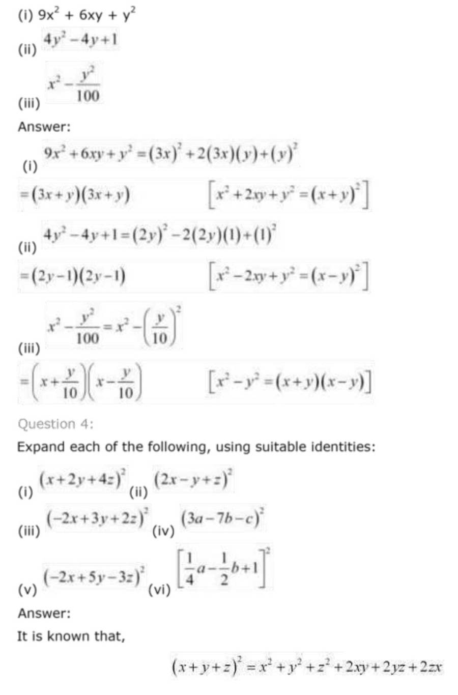 ncert solutions for class 9 maths chapter 2 polynomial 31