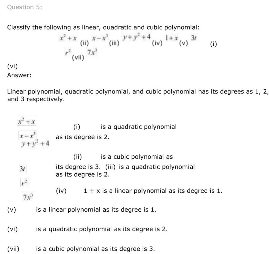 ncert solutions for class 9 maths chapter 2 polynomial 4