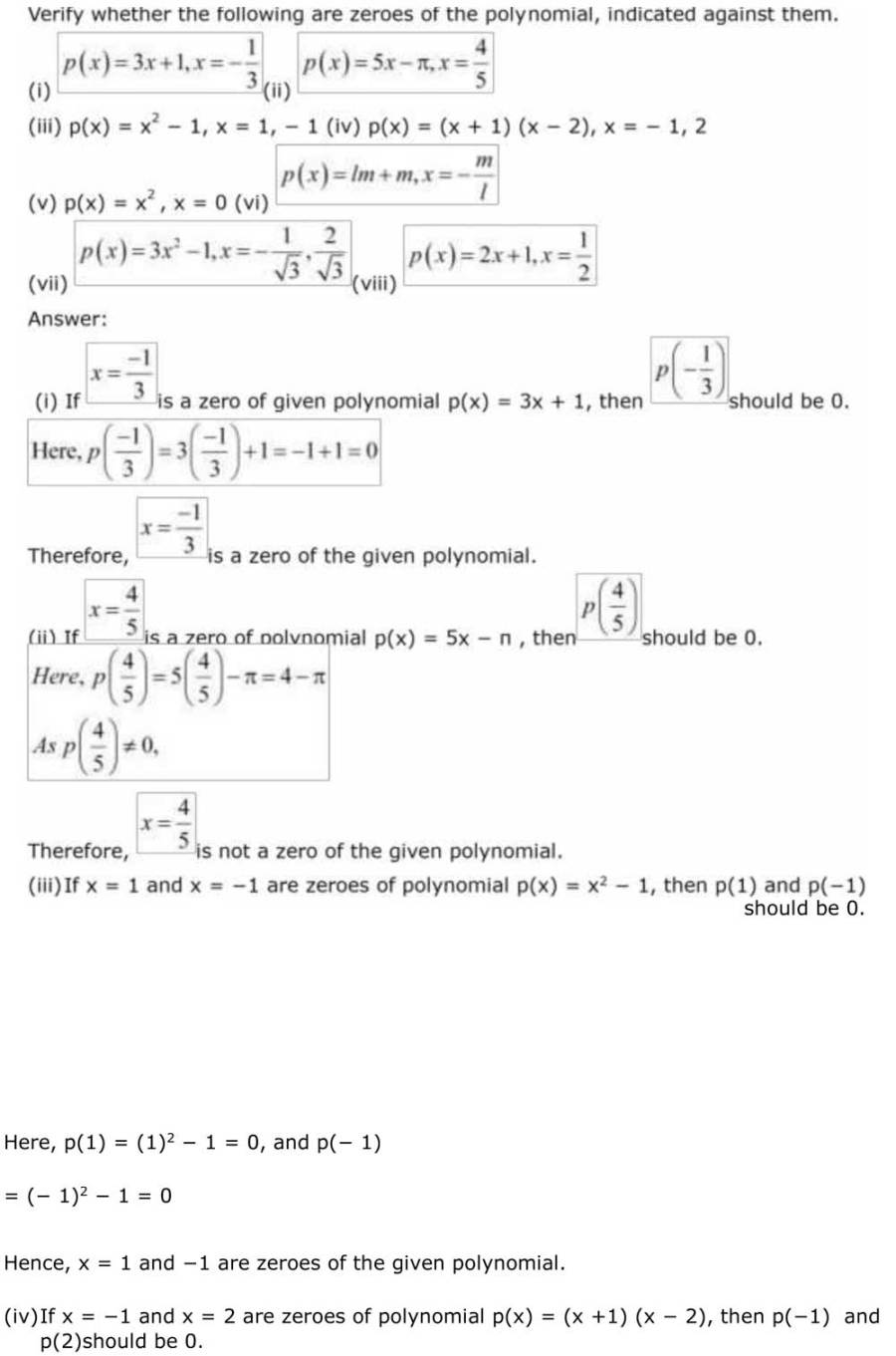 ncert solutions for class 9 maths chapter 2 polynomial 7