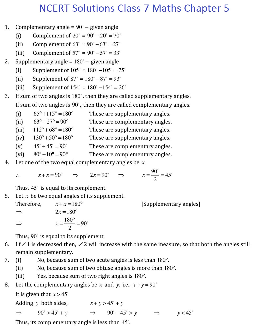 Ncert Solutions For Class 7 Maths Chapter 5 Lines And