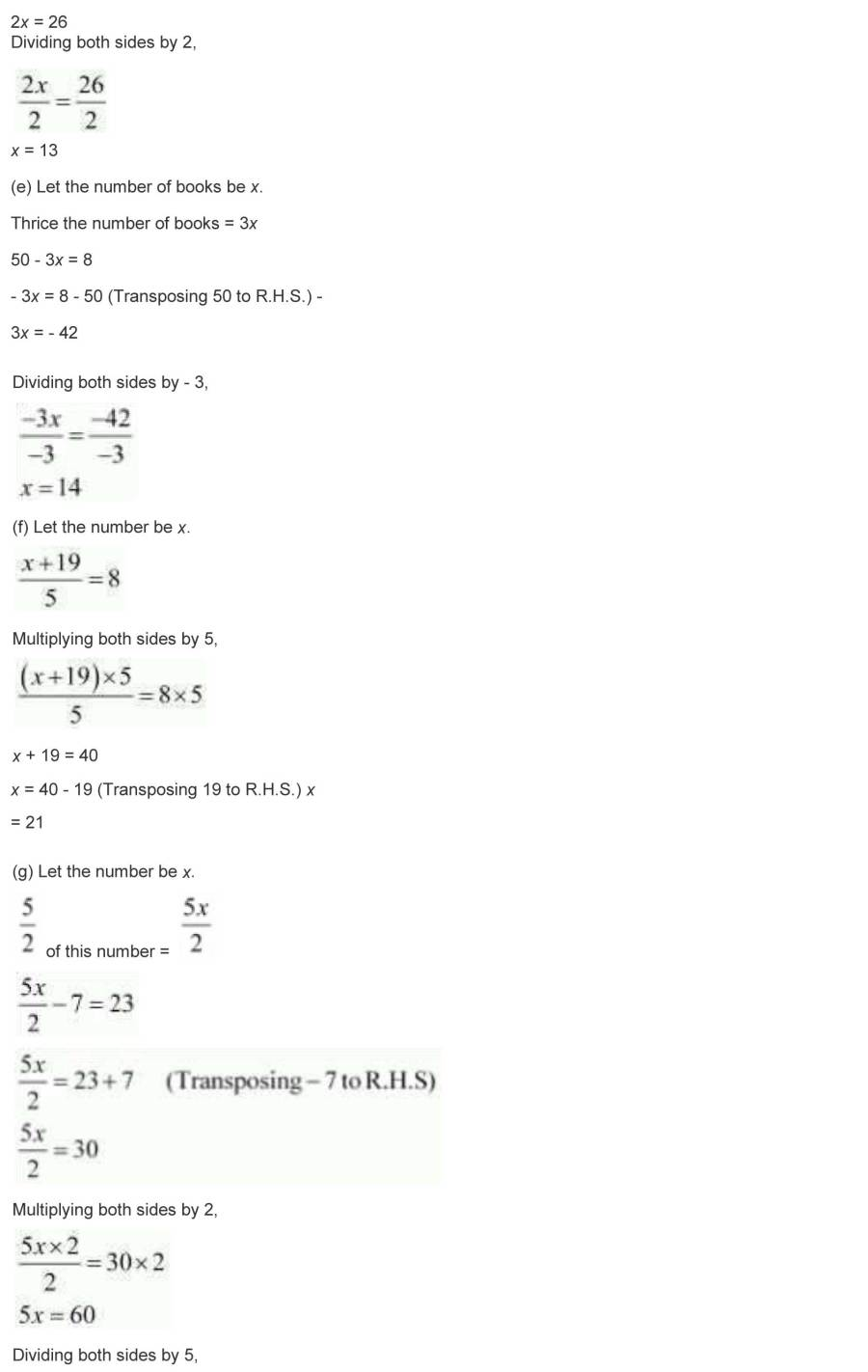 ncert solutions for class 7 maths chapter 4 simple equations 22