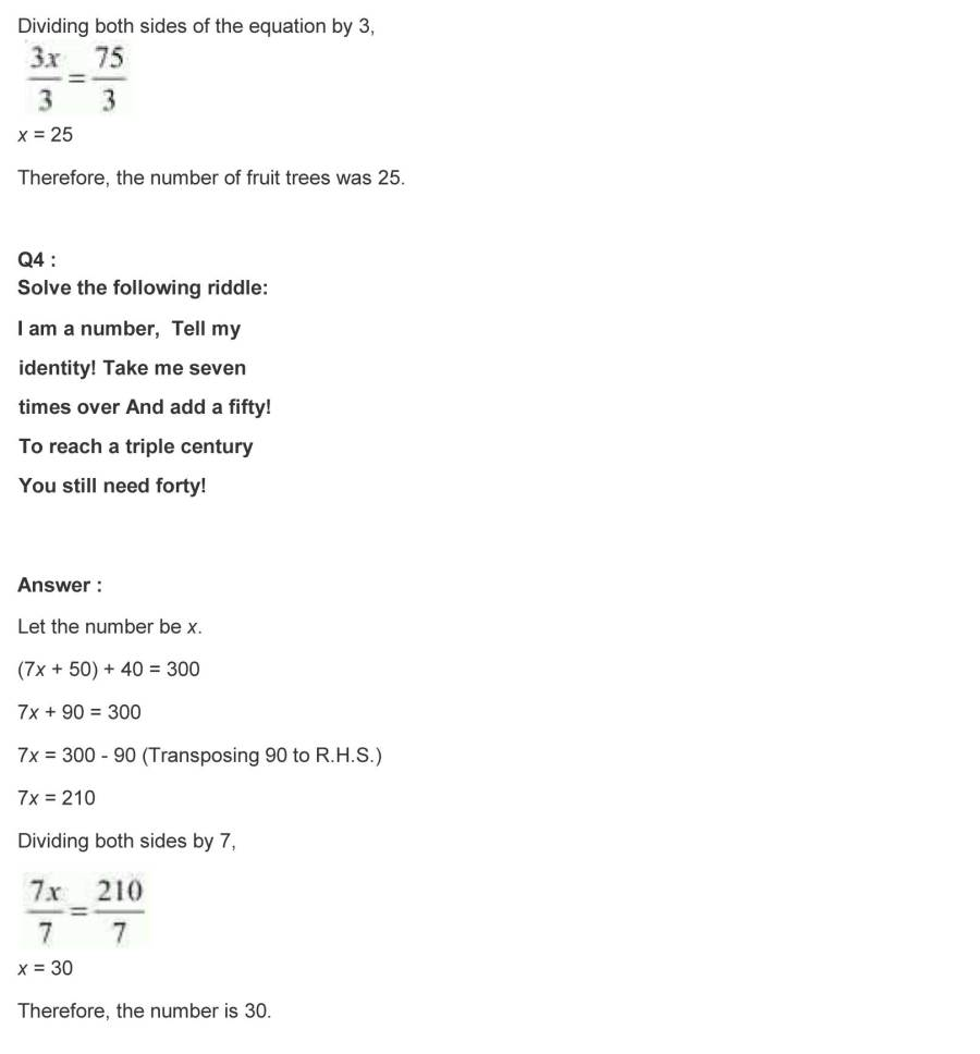 ncert solutions for class 7 maths chapter 4 simple equations 25