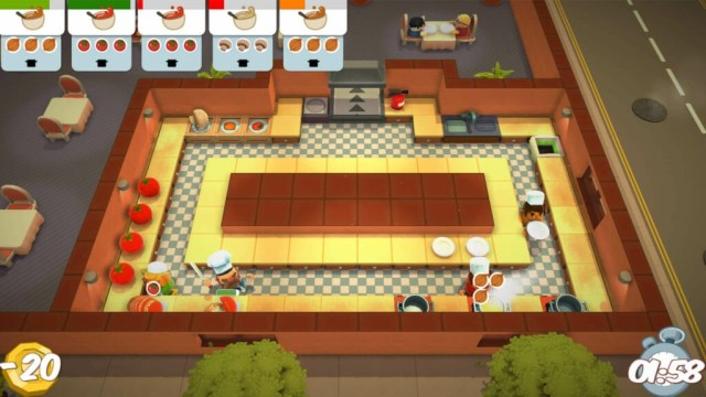 Overcooked game play screenshot Top Couch Co-Op Games