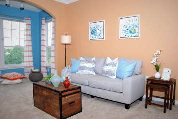 Picture of Vacant Living Room Staging with bright colors
