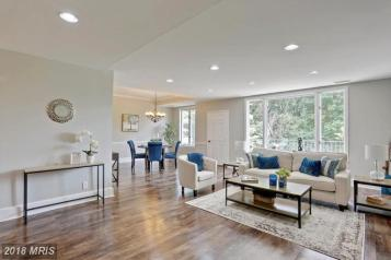 Picture of an open concept condo staged for sale