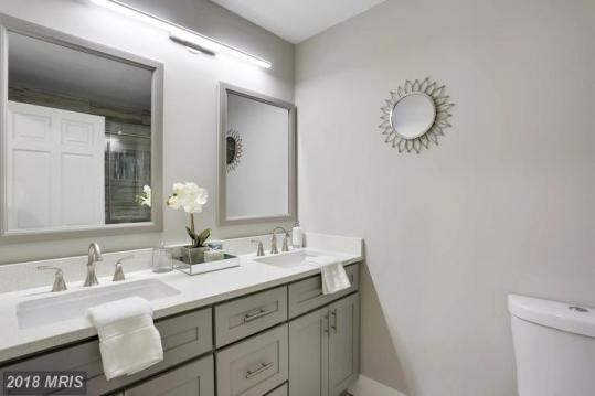 Picture of a high-end bathroom staged for sale