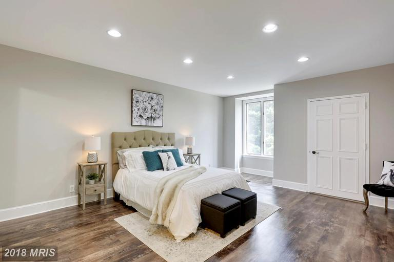 Picture of a master bedroom staged for sale