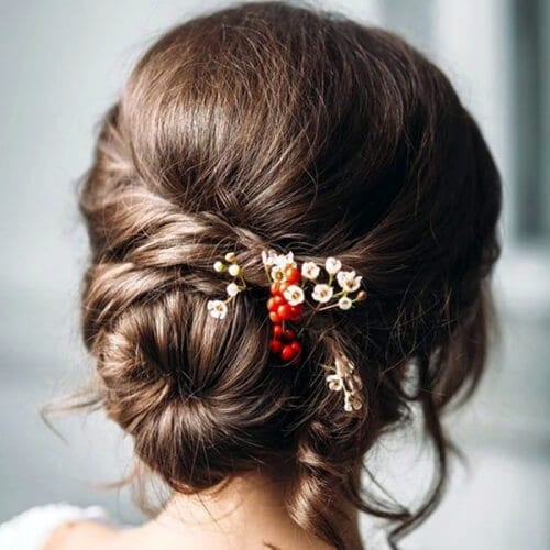 Boho Bun for Brown Locks