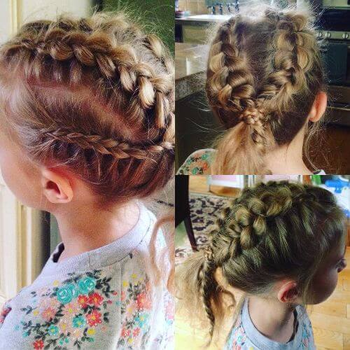 braided little girls hairstyles